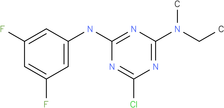 6-Chloro-N-(3,5-difluoro-phenyl)-N'-ethyl-N'-methyl-[1,3,5]triazine-2,4-diamine