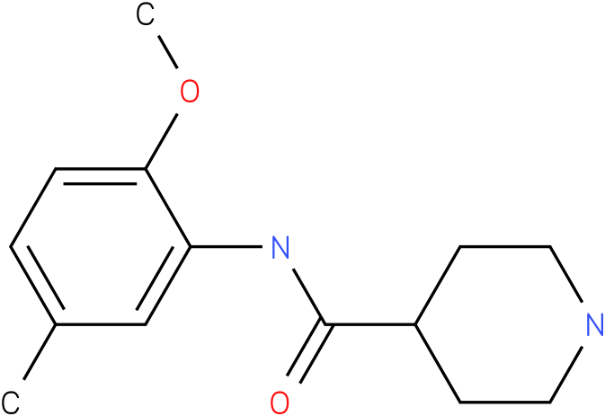 Piperidine-4-carboxylic acid (2-methoxy-5-methyl-phenyl)-amide