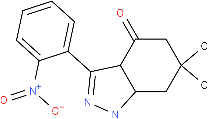 6,6-Dimethyl-3-(2-nitro-phenyl)-1,3a,5,6,7,7a-hexahydro-indazol-4-one