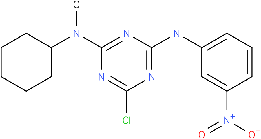 6-Chloro-N-cyclohexyl-N-methyl-N'-(3-nitro-phenyl)-[1,3,5]triazine-2,4-diamine
