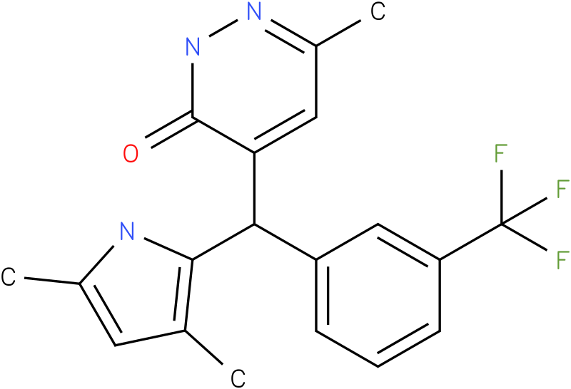 4-[3,5-Dimethyl-1-(3-trifluoromethyl-phenyl)-1H-pyrrol-2-ylmethyl]-6-methyl-2H-pyridazin-3-one