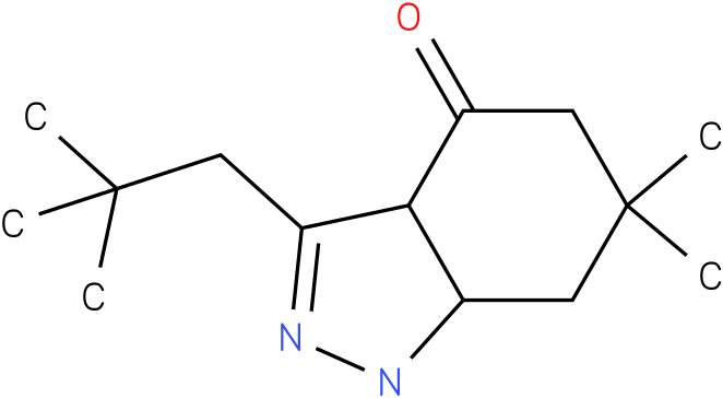 3-(2,2-Dimethyl-propyl)-6,6-dimethyl-1,3a,5,6,7,7a-hexahydro-indazol-4-one