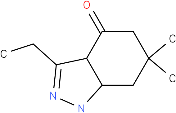 3-Ethyl-6,6-dimethyl-1,3a,5,6,7,7a-hexahydro-indazol-4-one