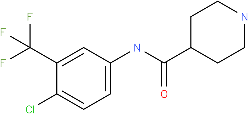 Piperidine-4-carboxylic acid (4-chloro-3-trifluoromethyl-phenyl)-amide