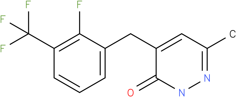 4-(2-Fluoro-3-trifluoromethyl-benzyl)-6-methyl-2H-pyridazin-3-one