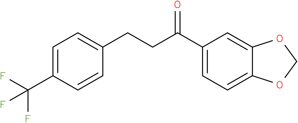 1-Benzo[1,3]dioxol-5-yl-3-(4-trifluoromethyl-phenyl)-propan-1-one