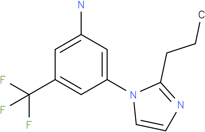 3-(2-Propyl-imidazol-1-yl)-5-trifluoromethyl-phenylamine