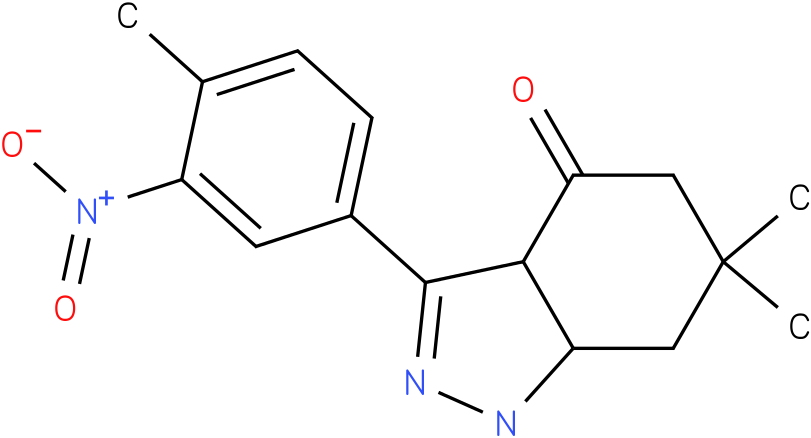 6,6-Dimethyl-3-(4-methyl-3-nitro-phenyl)-1,3a,5,6,7,7a-hexahydro-indazol-4-one