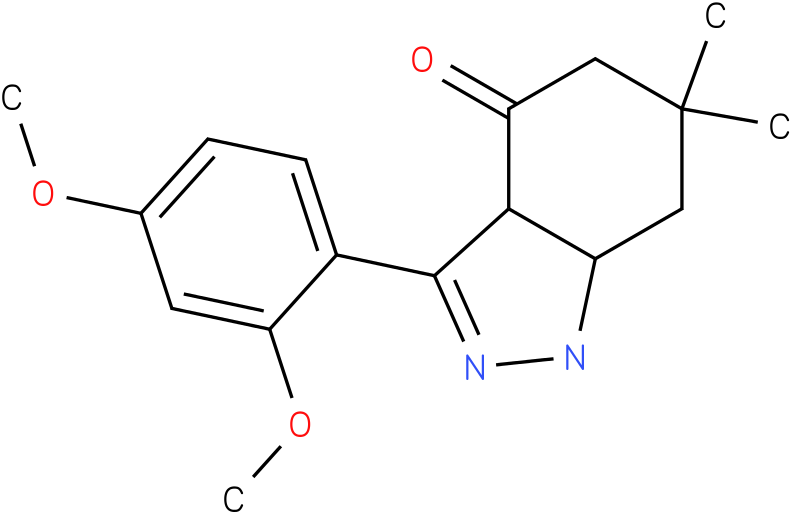 3-(2,4-Dimethoxy-phenyl)-6,6-dimethyl-1,3a,5,6,7,7a-hexahydro-indazol-4-one