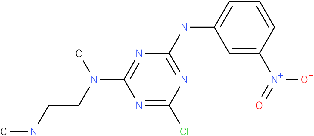 6-Chloro-N-methyl-N-(2-methylamino-ethyl)-N'-(3-nitro-phenyl)-[1,3,5]triazine-2,4-diamine
