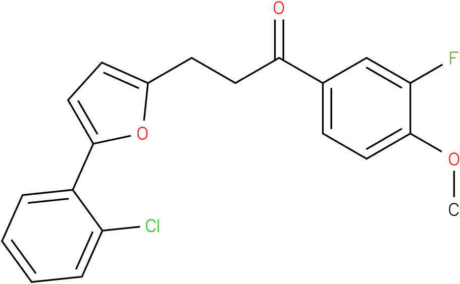 3-[5-(2-Chloro-phenyl)-furan-2-yl]-1-(3-fluoro-4-methoxy-phenyl)-propan-1-one