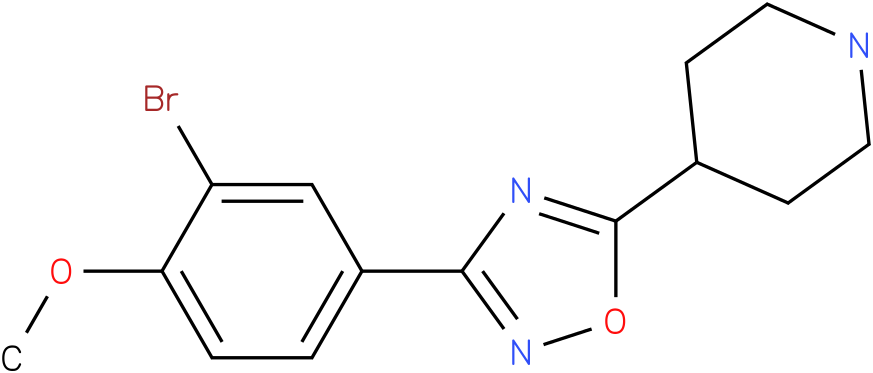 4-[3-(3-Bromo-4-methoxy-phenyl)-[1,2,4]oxadiazol-5-yl]-piperidine