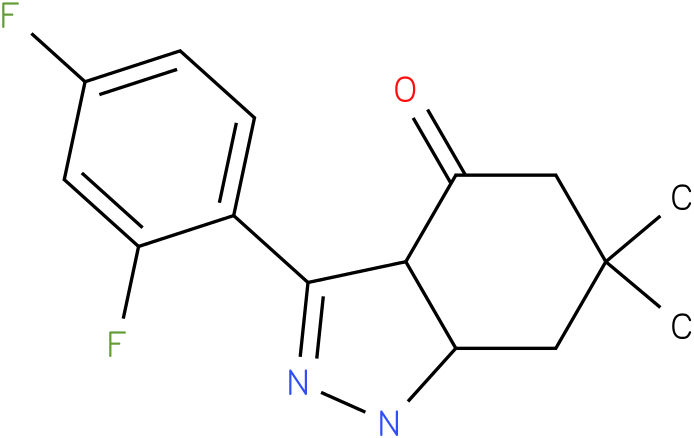 3-(2,4-Difluoro-phenyl)-6,6-dimethyl-1,3a,5,6,7,7a-hexahydro-indazol-4-one