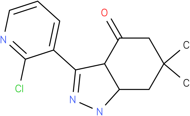 3-(2-Chloro-pyridin-3-yl)-6,6-dimethyl-1,3a,5,6,7,7a-hexahydro-indazol-4-one