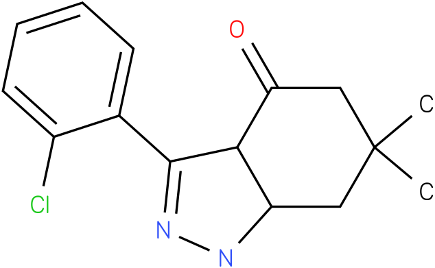 3-(2-Chloro-phenyl)-6,6-dimethyl-1,3a,5,6,7,7a-hexahydro-indazol-4-one