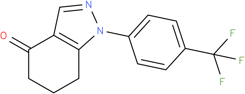 1-(4-Trifluoromethyl-phenyl)-1,5,6,7-tetrahydro-indazol-4-one