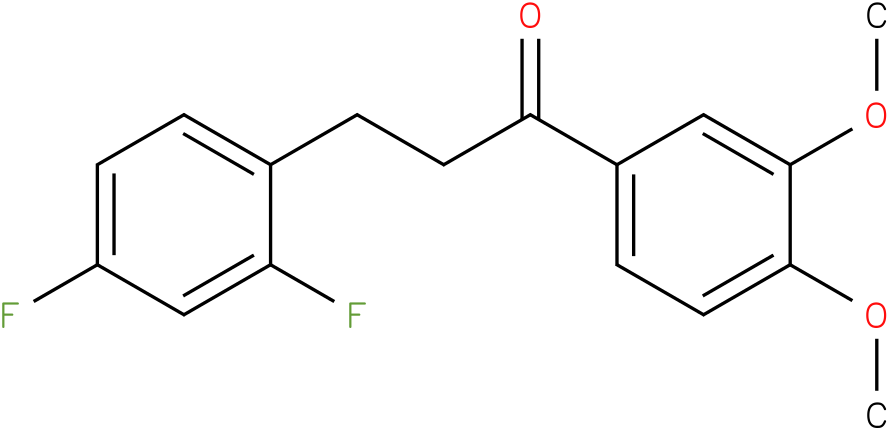3-(2,4-Difluoro-phenyl)-1-(3,4-dimethoxy-phenyl)-propan-1-one