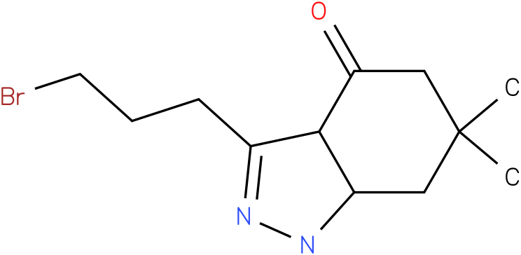 3-(3-Bromo-propyl)-6,6-dimethyl-1,3a,5,6,7,7a-hexahydro-indazol-4-one