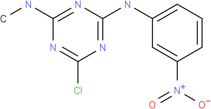 6-Chloro-N-methyl-N'-(3-nitro-phenyl)-[1,3,5]triazine-2,4-diamine