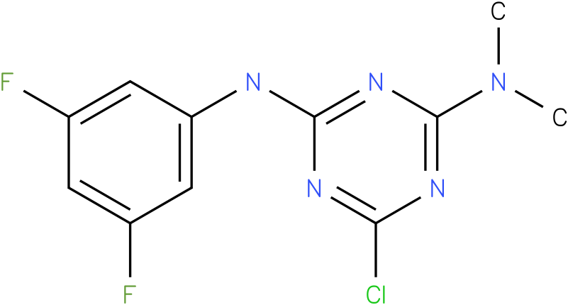 6-Chloro-N-(3,5-difluoro-phenyl)-N',N'-dimethyl-[1,3,5]triazine-2,4-diamine