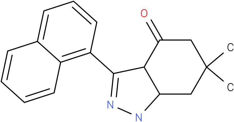 6,6-Dimethyl-3-naphthalen-1-yl-1,3a,5,6,7,7a-hexahydro-indazol-4-one