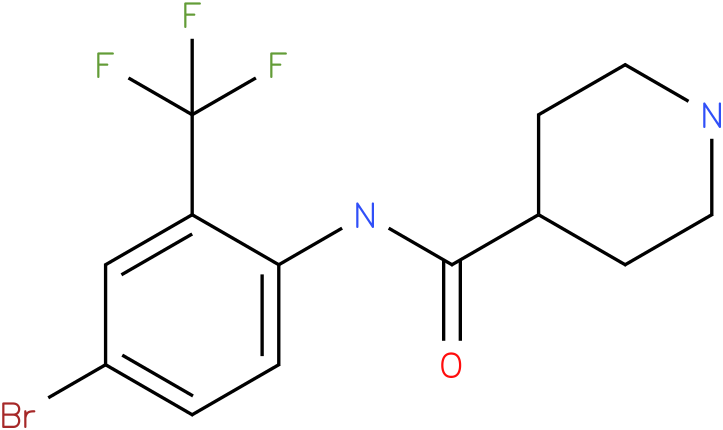 Piperidine-4-carboxylic acid (4-bromo-2-trifluoromethyl-phenyl)-amide