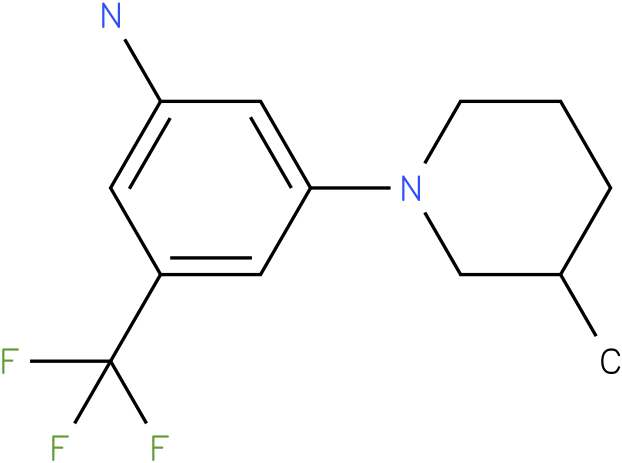 3-(3-Methyl-piperidin-1-yl)-5-trifluoromethyl-phenylamine