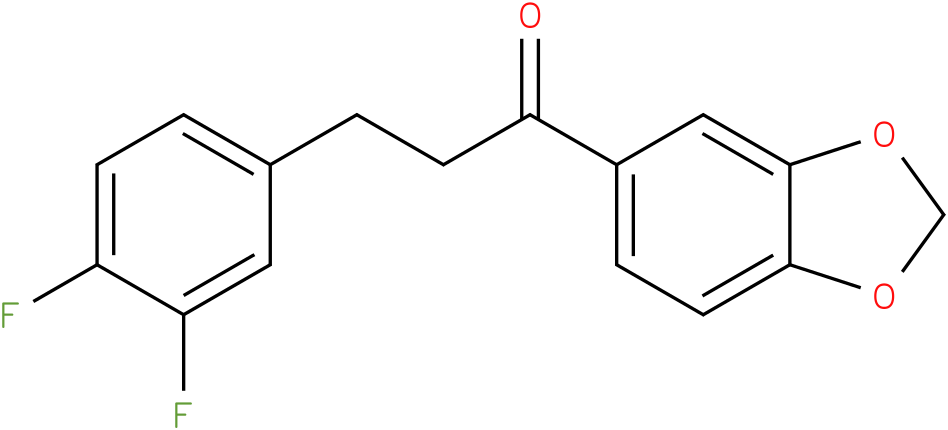 1-Benzo[1,3]dioxol-5-yl-3-(3,4-difluoro-phenyl)-propan-1-one