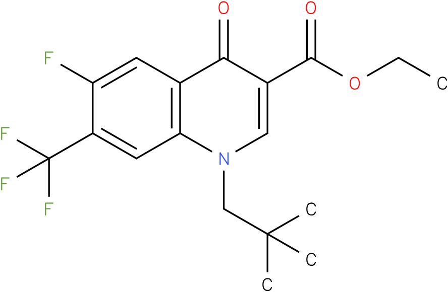 1-(2,2-Dimethyl-propyl)-6-fluoro-4-oxo-7-trifluoromethyl-1,4-dihydro-quinoline-3-carboxylic acid ethyl ester