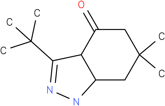 3-tert-Butyl-6,6-dimethyl-1,3a,5,6,7,7a-hexahydro-indazol-4-one