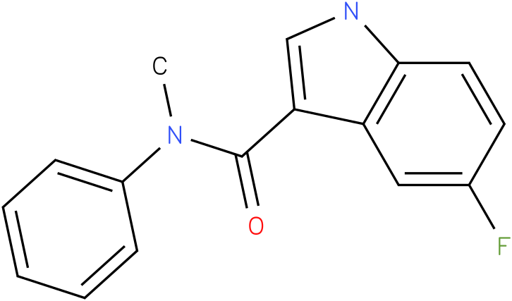 5-Fluoro-1H-indole-3-carboxylic acid methyl-phenyl-amide