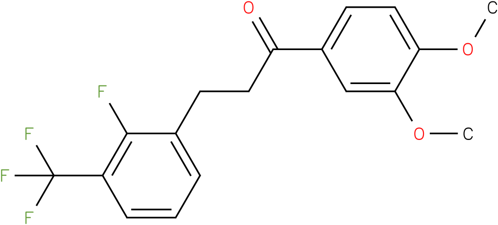1-(3,4-Dimethoxy-phenyl)-3-(2-fluoro-3-trifluoromethyl-phenyl)-propan-1-one