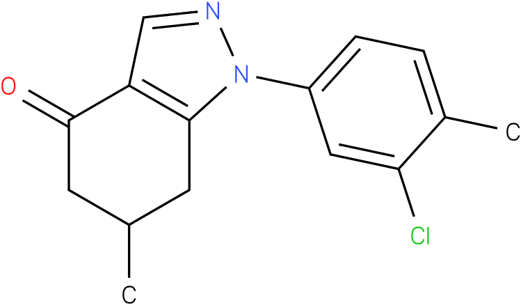 1-(3-Chloro-4-methyl-phenyl)-6-methyl-1,5,6,7-tetrahydro-indazol-4-one