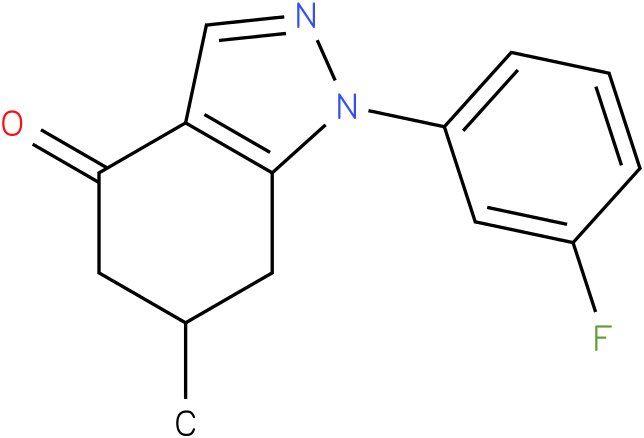 1-(3-Fluoro-phenyl)-6-methyl-1,5,6,7-tetrahydro-indazol-4-one