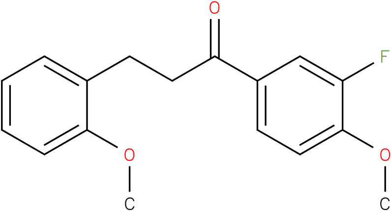 1-(3-Fluoro-4-methoxy-phenyl)-3-(2-methoxy-phenyl)-propan-1-one