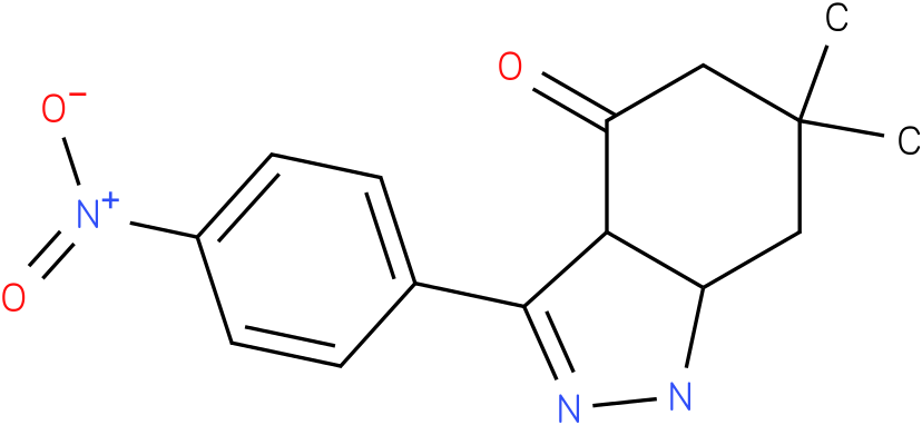 6,6-Dimethyl-3-(4-nitro-phenyl)-1,3a,5,6,7,7a-hexahydro-indazol-4-one