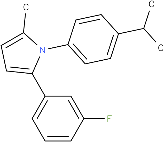 2-(3-Fluoro-phenyl)-1-(4-isopropyl-phenyl)-5-methyl-1H-pyrrole