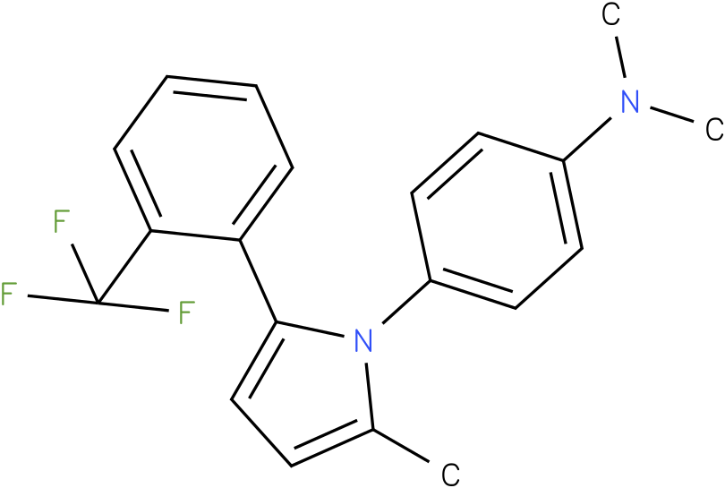 Dimethyl-{4-[2-methyl-5-(2-trifluoromethyl-phenyl)-pyrrol-1-yl]-phenyl}-amine