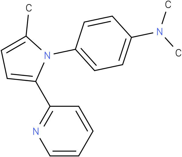 Dimethyl-[4-(2-methyl-5-pyridin-2-yl-pyrrol-1-yl)-phenyl]-amine