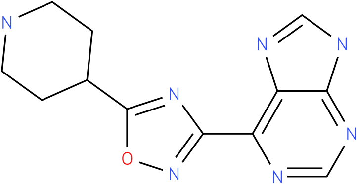 6-(5-Piperidin-4-yl-[1,2,4]oxadiazol-3-yl)-9H-purine