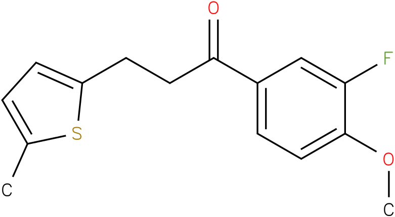 1-(3-Fluoro-4-methoxy-phenyl)-3-(5-methyl-thiophen-2-yl)-propan-1-one