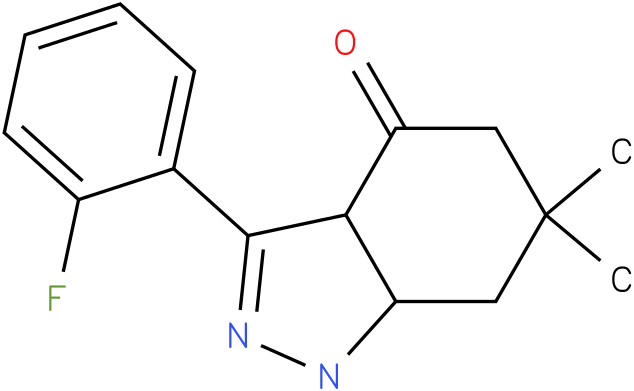 3-(2-Fluoro-phenyl)-6,6-dimethyl-1,3a,5,6,7,7a-hexahydro-indazol-4-one