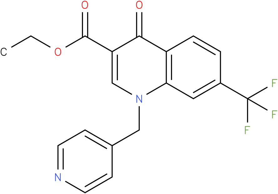 4-Oxo-1-pyridin-4-ylmethyl-7-trifluoromethyl-1,4-dihydro-quinoline-3-carboxylic acid ethyl ester