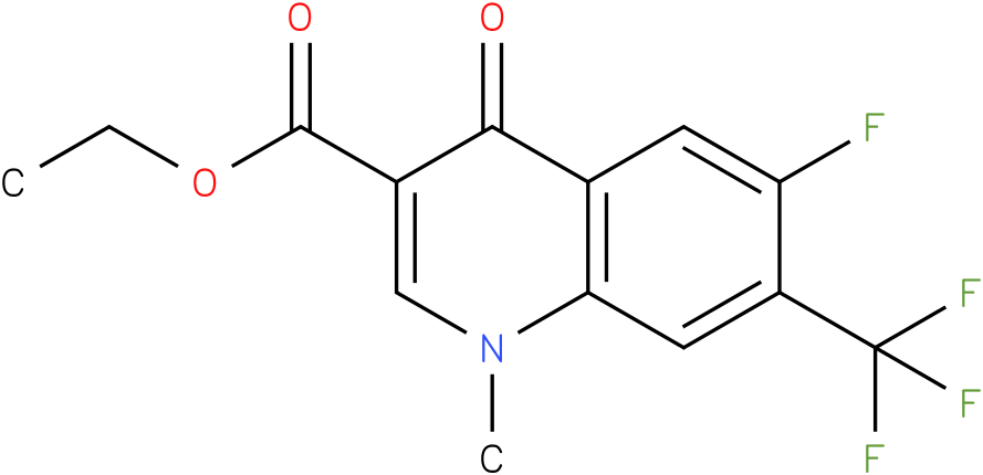 6-Fluoro-1-methyl-4-oxo-7-trifluoromethyl-1,4-dihydro-quinoline-3-carboxylic acid ethyl ester