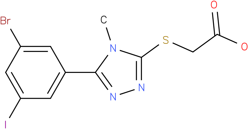 [5-(3-Bromo-5-iodo-phenyl)-4-methyl-4H-[1,2,4]triazol-3-ylsulfanyl]-acetic acid