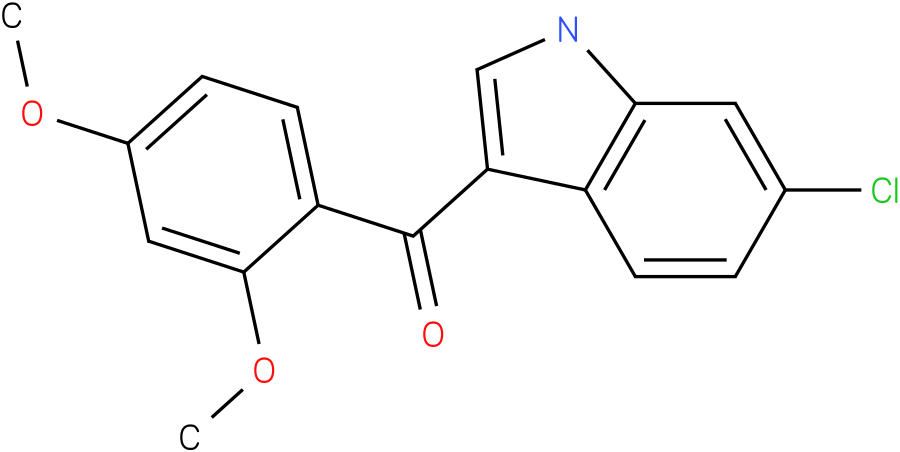 (6-Chloro-1H-indol-3-yl)-(2,4-dimethoxy-phenyl)-methanone
