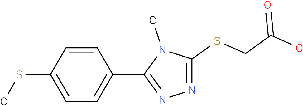 [4-Methyl-5-(4-methylsulfanyl-phenyl)-4H-[1,2,4]triazol-3-ylsulfanyl]-acetic acid