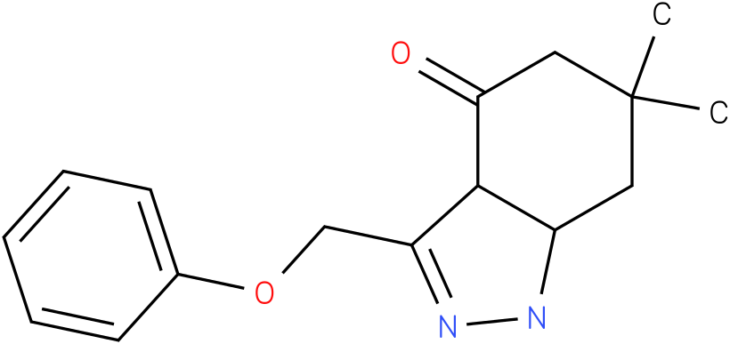 6,6-Dimethyl-3-phenoxymethyl-1,3a,5,6,7,7a-hexahydro-indazol-4-one