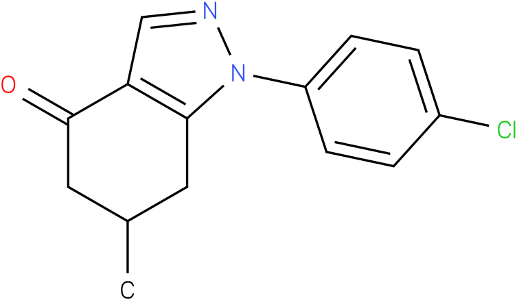 1-(4-Chloro-phenyl)-6-methyl-1,5,6,7-tetrahydro-indazol-4-one