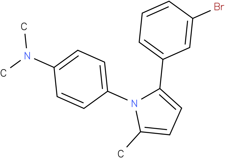 {4-[2-(3-Bromo-phenyl)-5-methyl-pyrrol-1-yl]-phenyl}-dimethyl-amine